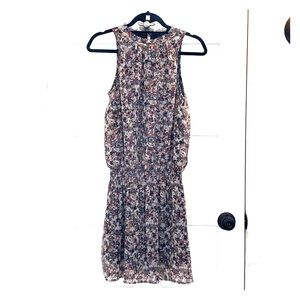 Mock neck sleeveless floral dress size 2 H&M